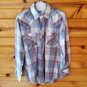 Men's ATB Plaid, Poly/Cotton Blend, Western Shirt